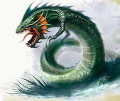 Tatzlwyrm. Primitive dragonlike creature of the Greenbelt.