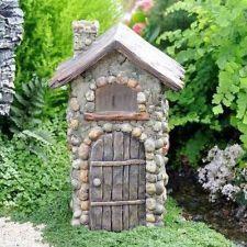 Resin Fairy Garden Cottage Cobblestone House Enchanted Fairies Gnome Yard Art