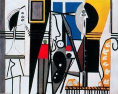 Acheter Tableau 'le peintre et la sienne modèle' de Pablo Picasso - Achat d'une reproduction sur toile peinte à la main , Reproduction peinture, copie de tableau, reproduction d'oeuvres d'art sur toile