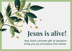 Customize the Olive Jesus is Alive Easter Card template and make it match your brand!