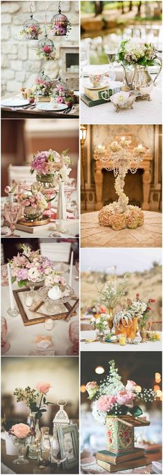 Vintage Weddings » 26 Vintage Wedding Centerpieces That Take Your Wedding to a New Level