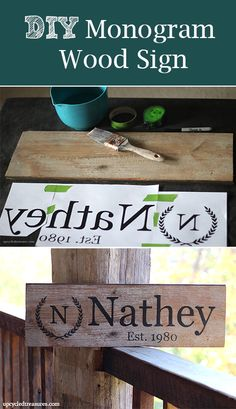 Diy Wood Sign Using Your Printer