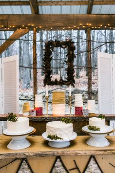 Rustic Wintry Wedding Inspiration at Emmerich Tree Farm Winter Party Themes, Winter Wedding Decorations, Winter Weddings, Decor Wedding, Wedding Ideas, Woodsy Wedding, Wedding Shoot, Wedding Vintage, White Wedding Cakes