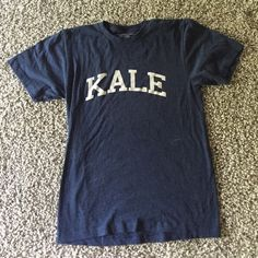 Suburban riot navy Kale tee shirt size small Only worn a few times. Technically a men's small but definitely more of a women's small. Purchased from urban outfitters but by suburban riot Urban Outfitters Tops Tees - Short Sleeve