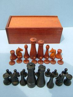 projects ideas metal chess pieces. 1970s Retro Shaped Wooden Chess Men  Pieces Complete with Box external image chess 02 jpg Geo History Pinterest