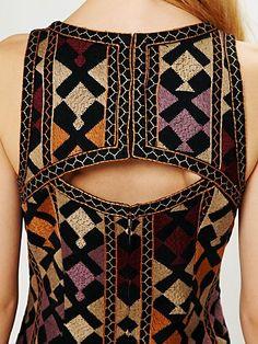 Phulkari Embroidered Shift Dress