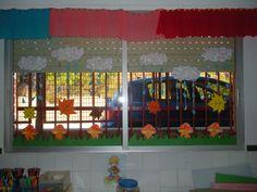 Resultado de imagen para decoracion ventanas aula infantil for Decoracion de aulas infantiles