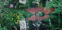 Oilpainting 70 cm X 140 cm #oilpainting #water #bridge #art #artwork #green