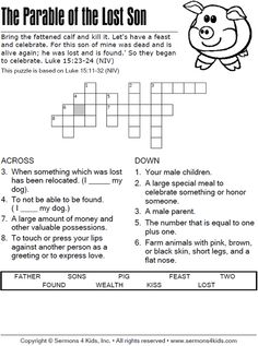 The Lost Son - Crossword Puzzle