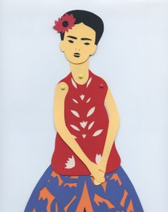 DIY Frida Kahlo Paper Doll.