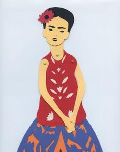 DIY Frida Kahlo Paper Doll.