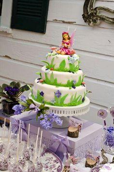 layered fairy cake