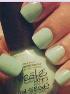 "Nicole by opi ""my lifesaver"" Turquoise Nail Polish, Nicole By Opi, Nails, Finger Nails, Ongles, Nail, Nail Manicure"