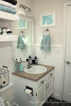 bathroom makeover on a budget in 2019 bathroom fantasy pinterest rh pinterest com Small Bathroom Decorating Ideas On a Budget Accessories Bathroom Decorating Ideas