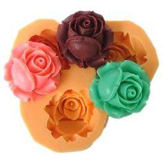 Rosebud silicone mold