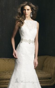 Embellished Lace and English Net Gown by Allure Bridals 9066
