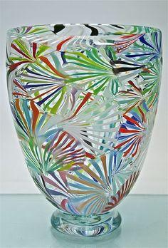 michael egan glass | Spider Web Vase: Michael Egan: