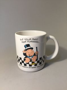 ZIGGY COFFEE MUG, Vintage Ziggy mug, Put your best food forward, gift of encouragement, cute gift mug, mug for Ziggy collector, coffee cup