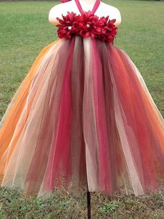 Fall Harvest Flower Girl Tutu Dress, Fall Colored tutu......this one i believe is by far my fav one so far