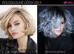 Tipy redakce magazínu Vlasy a účesy na trendy polodlouhé účesy zima 2017. Účesy pro polodlouhé vlasy 2017 jsou z kolekcí Fabio Salsa a Skyler McDonald.