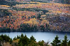 Had Eagle Lake  on one side and Jordan Pond on the other - Lived in Acadia National Park on Mount Cadilac, Maine (A Very Lucky Girl!)