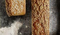 - Grovbrød med Bygg og Havre - WholeGrain Barley and Oat Bread, - soaking wholegrain flour Our Daily Bread, Whole Grain Bread, Korn, Recipe Box, Scones, Baked Goods, Bread Recipes, Banana Bread, Waffles
