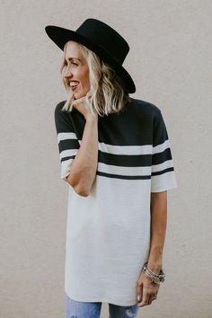 Striped Rib Knit Top | ROOLEE