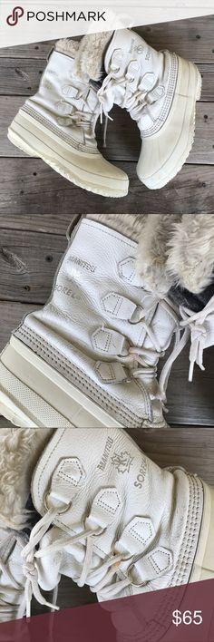 Spotted while shopping on Poshmark: Vintage Sorel Women's Manitou Boots White Leather! #poshmark #fashion #shopping #style #Sorel #Shoes