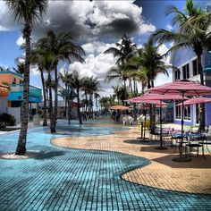 Times Square Fort Myers Beach, Florida. Shops, restaurants right off the beach near the Pier!