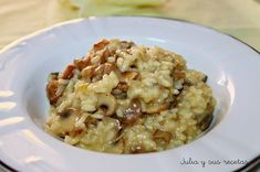 Arroz, arroz cremoso, Julia y sus recetas, arroz con setas, risotto, risoto con setas, arroz meloso, arroz meloso con setas