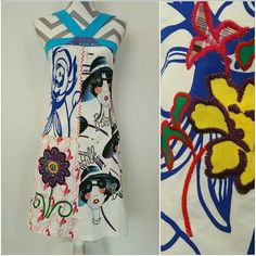 """Urban Chic Artsy dress NWT *last large*  Host Pick   Brand new with tags """"Art isn't always hung, it's also worn"""" dress Size Large Bust seam to seam approx 16"""", can stretch out up to 20.5"""" side to side From the blue band around bust to bottom of dress the length is approx 27.5"""" anthro 100%cotton (material has some stretch)  *similar to anthro styles Dresses"""