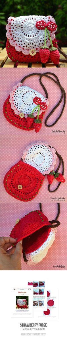 Strawberry purse crochet pattern