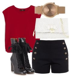 """""""Untitled #37"""" by tatyjadon on Polyvore featuring MANGO, Chloé, Betsey Johnson and Topshop"""