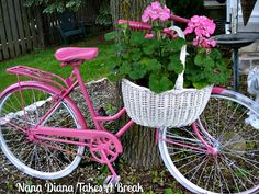 What's more summery than a hot pink bike!