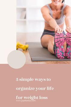 Simple tips to help you organize your life for weight loss Easy Weight Loss Tips, Losing Weight Tips, Weight Loss Goals, Best Weight Loss, Lose Weight At Home, Want To Lose Weight, Lazy Girl Workout, Weights For Beginners, Healthy Lifestyle Tips