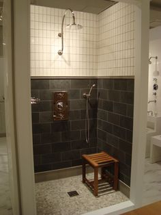 Henry Shower Display in the Boston Showroom