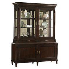 "Grove Park 68"" Display Cabinet, Brown"