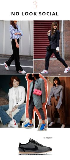 Como usar Nike Cortez no look social