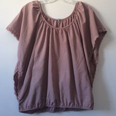 Charlotte Russe Scoop Top (Size Medium) Size Medium. Charlotte Russe. Scoop neck. Cute oversized, flow sleeves. Lace accents. Charlotte Russe Tops Blouses