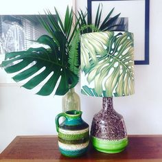 Another retro vintage beauty , this base is a vibrant apple green with chocolate speckled glaze over top, very unique. Paired here with my monstera shade available online now. #lamp #homedecor #style #onlineshop #light #retro #vintage #vintagelamp #interior #interiordesign #midcenturymodern #midcentury #palm #monstera #home #homedecor #homewares #hawaiian #hawaiianstyle #instadecor #design
