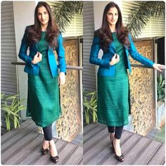 How to Make a Ethnic Dress Modern ? Salwar Designs, Kurta Designs Women, Kurti Designs Party Wear, Kurti Neck Designs, Latest Kurti Designs, Dress Designs, Dress Indian Style, Indian Wear, Indian Outfits
