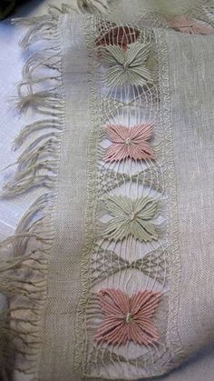 Never seen this type of embroidery before. Wonder what it is called. (Previous poster.) It is called Faggot work.