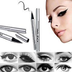 Charming Women Lady Beauty Makeup Black Eyeliner Gel Waterproof  Long Lasting Liquid Eye Liner Pencil Make Up maquillage 1492560