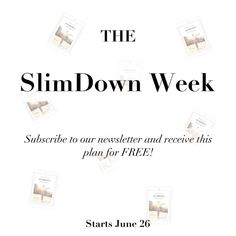 Next Monday starts the #SlimDown Week. Head over to spotebi.com, subscribe to our newsletter and receive the 1-week SlimDown Plan for FREE! Let's burn major calories together and get in shape for the 4th of July pool parties!!! #YouCanDoIt @spotebi