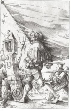 Banner Bearer by Urs Graf