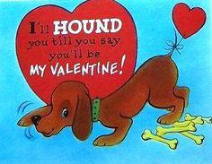 VINTAGE VALENTINE HOUND DOG