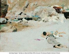 John Singer Sargent - Two Boys on a Beach with Boats, 1878 by artimageslibrary, via Flickr