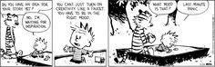 Yup!  Calvin and Hobbes Comic Strip, May 24, 2012