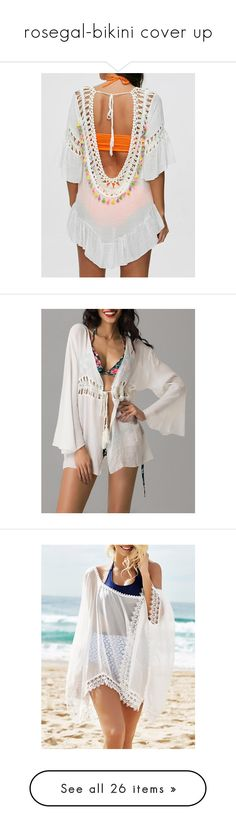 """rosegal-bikini cover up"" by fshionme ❤ liked on Polyvore featuring swimwear, cover-ups, crochet bathing suit cover ups, beach cover up, kimono cover up, bathing suit cover up, swim suit cover up, lace bathing suit cover up, sheer cover up and sheer bathing suit cover ups"