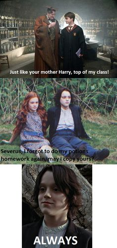 So they both did well in potions because of Snape